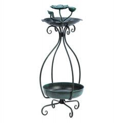 Metal Birdfeeder And Planter