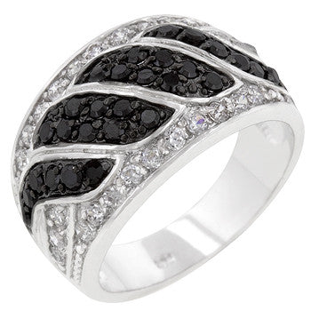 Black And White Cocktail Ring (size: 05)