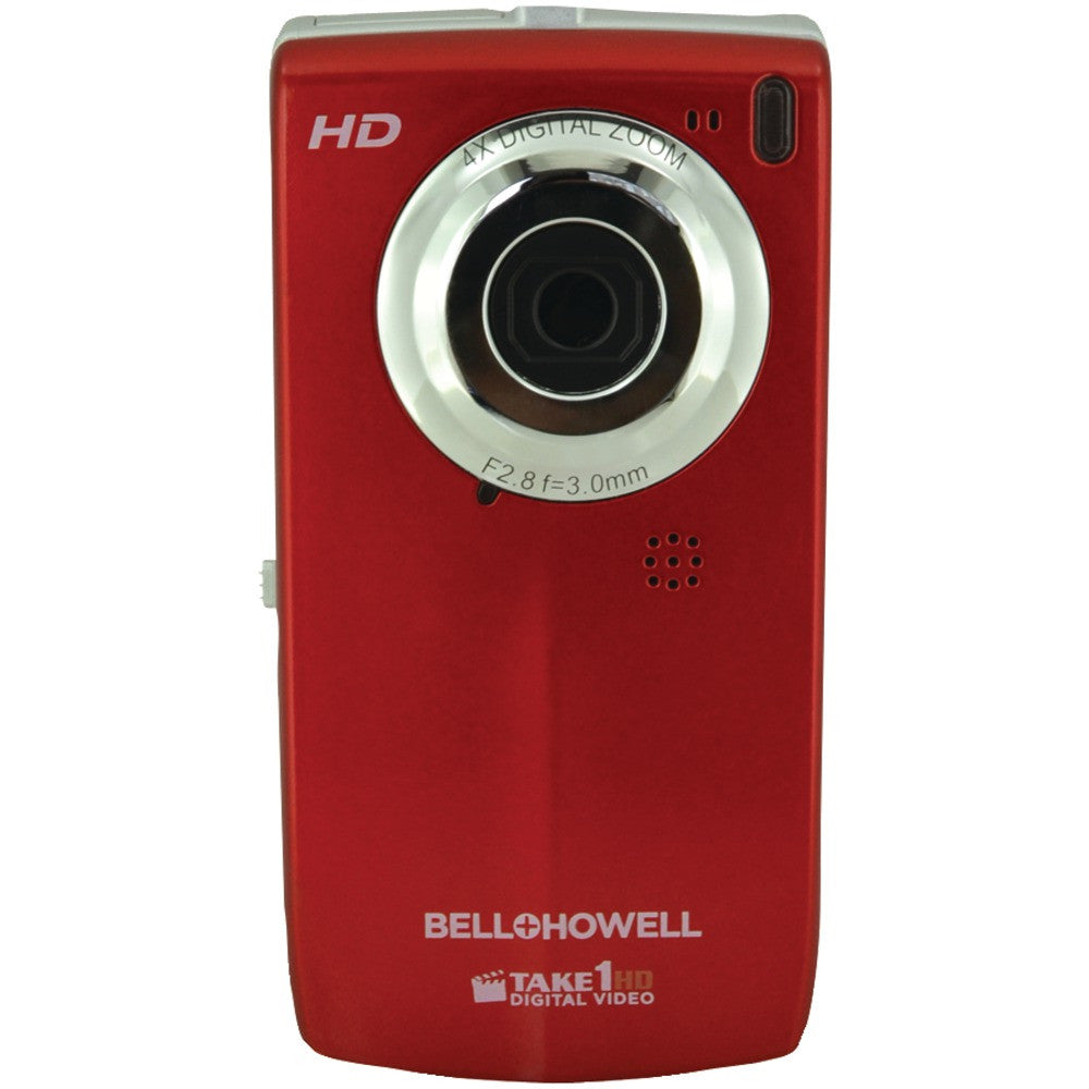 Bell+howell 5.0 Megapixel Take1hd Digital Video Camcorder With Flip-out Lcd Screen (red)