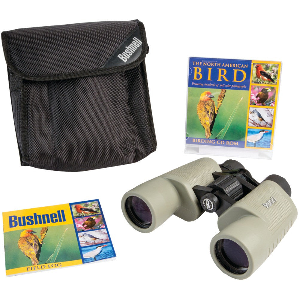Bushnell Birder 8x40 Tan Porro Binoculars With Cd