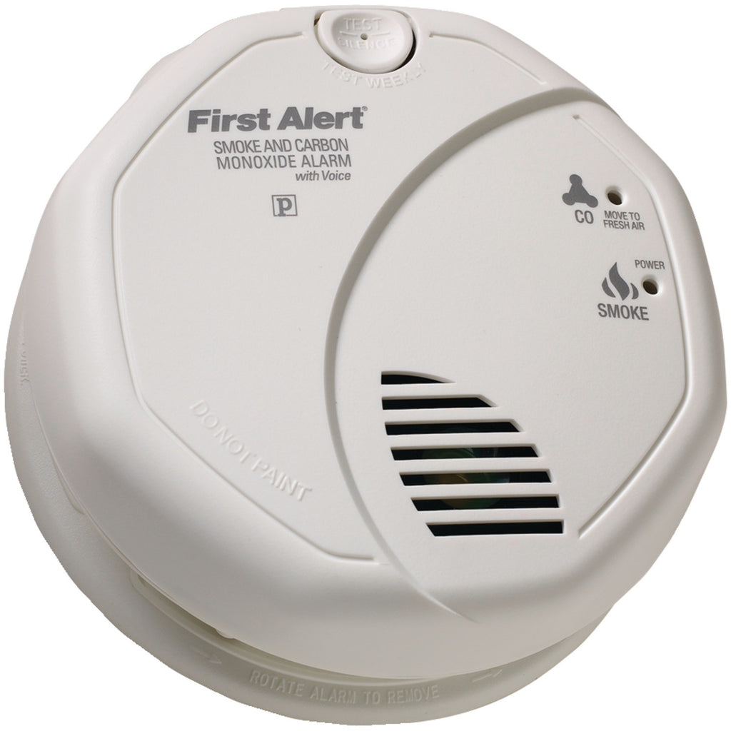 First Alert Battery Operated Combination Smoke And Carbon Monoxide Alarm With Voice Location