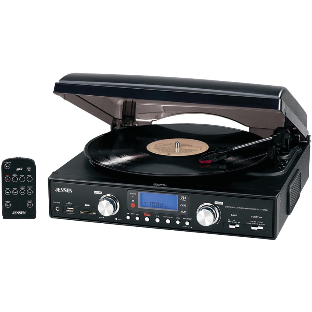 Jensen 3-speed Stereo Turntable With Mp3 Encoding System