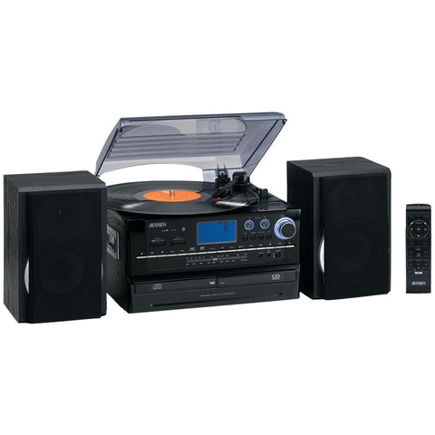 Jensen 3-speed Turntable 2-cd System With Cassette & Am And Fm Stereo Radio