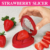 1PCS New strawberry slicer Kitchens cooking gadgets accessories supplies fruit carving tools salad cutter Free shipping