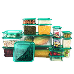 17 Pieces Set Kitchen Storage Boxes Bento Lunch Box Plastic Storage Containers with Lids Food Cereal Coffee Container Freezer