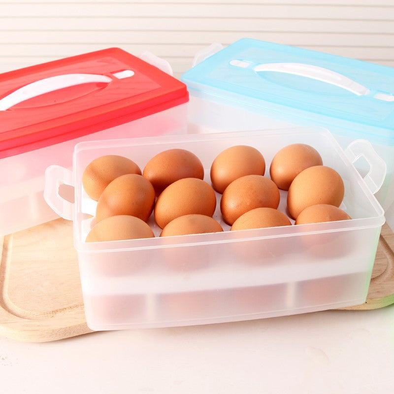 Kitchen Egg Storage Box Organizer, Refrigerator Egg Storing, 24 Eggs Organizer Outdoor Portable Container for Storage Egg Box