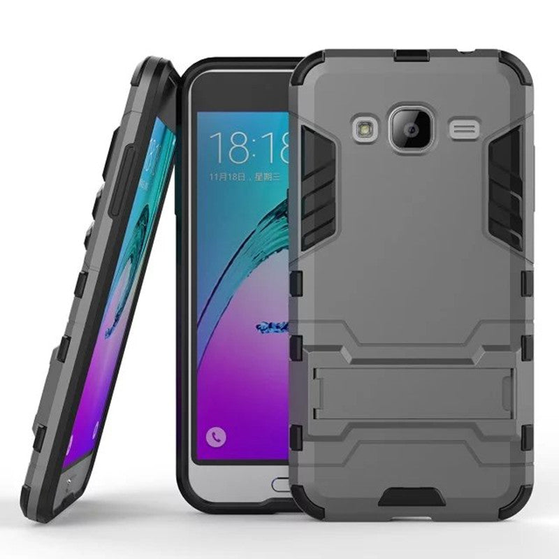 Armor Case For Samsung Galaxy J3 2016 J320 J320F J320H Heavy Duty Hybrid Hard Rugged Rubber Cover for Samsung J3 Phone Case (<