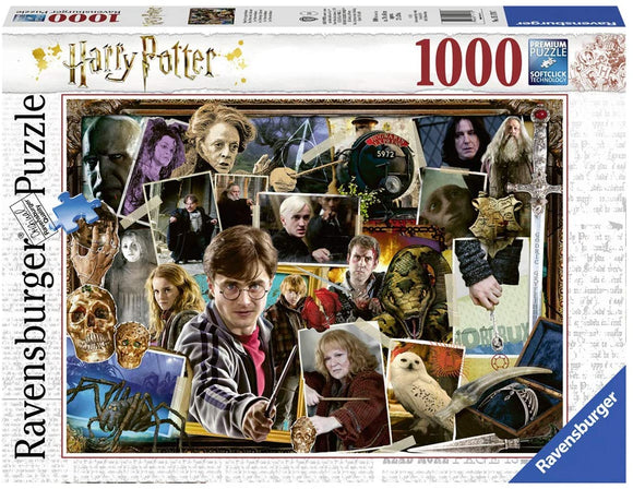 Rompecabezas Puzzle Ravensburger 1000 Piezas Harry Potter Collage.