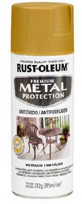 Pintura Antioxido Oro Metalico 395ml. Rust Oleum Metal Protection