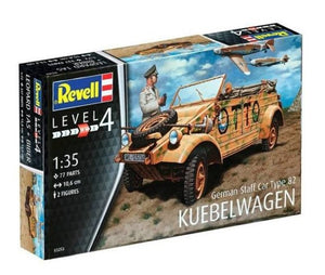 Vehiculo German Staff Car Type 82 Kübelwagen Escala 1/35. Modelos a Escala Revell