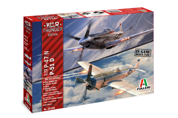 Set 2 Aviones War Thunder Limited Edition Escala 1/72. Modelos a Escala Italeri