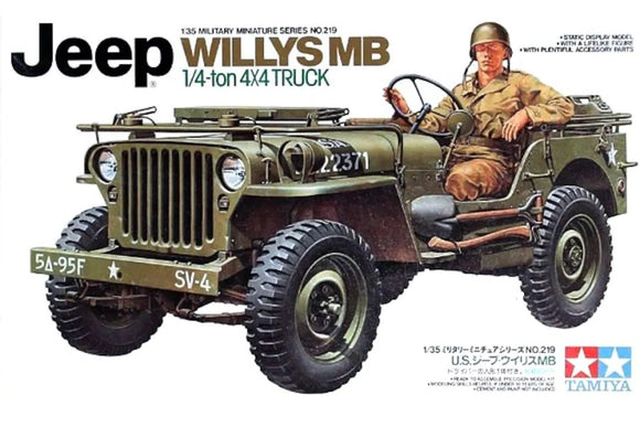 Jeep Willys MB 1/4 Ton. 4x4 a Escala 1/35.  Vehiculo Militar Tamiya 35219