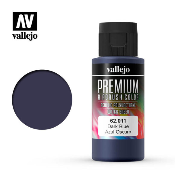 62011 Azul Oscuro (Dark Blue) 60ml. Premium Airbrush Color