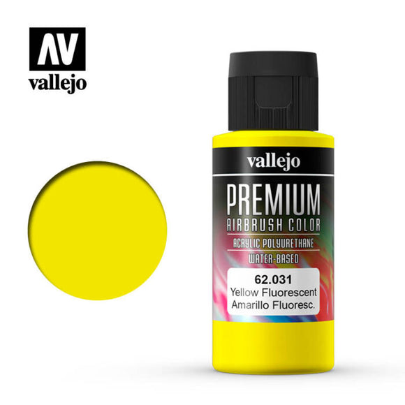 62031 Amarillo Fluorescente (Yellow Fluo) 60ml. Premium Airbrush Color