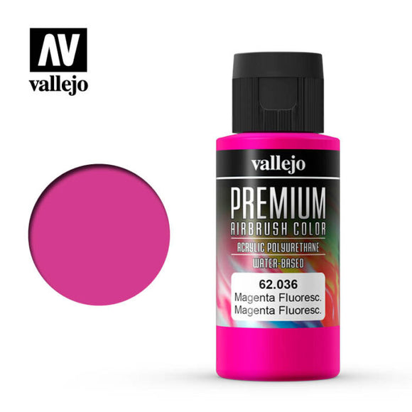 62036 Magenta Fluorescente (Magenta Fluo) 60ml. Premium Airbrush Color