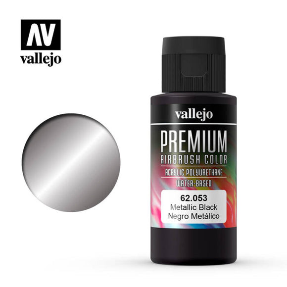 62053 Negro Metálico (Metallic Black) 60ml. Premium Airbrush Color