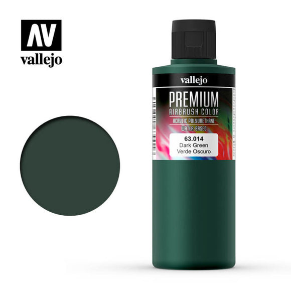 63014 Verde Oscuro (Dark Green) 200ml. Premium Airbrush Color