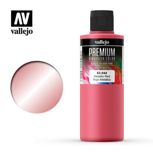 63044 Rojo Metálico (Metallic Red) 200ml. Premium Airbrush Color