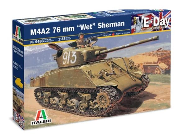 Tanque M4A2 76 mm Wet Sherman Escala 1/35. Modelos a Escala Italeri