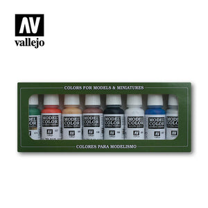70103 Estuche de 8 Pinturas Wargames Basics. Model Color Set