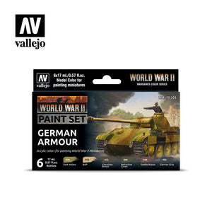70205 Estuche de 6 Pinturas WWII German Armour. Model Color Set