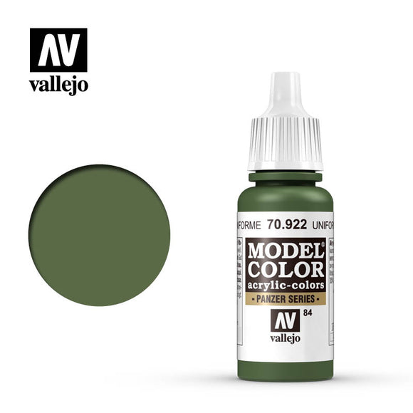 70922 Verde Uniforme (Uniform Green) 17ml. Model Color