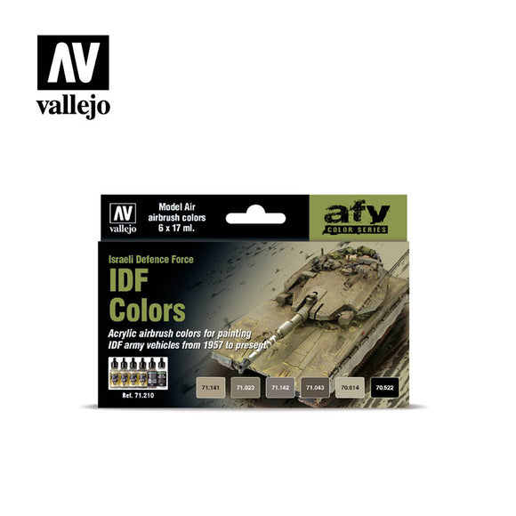 71210 Estuche de 6 Pinturas IDF Colors. Model Air Set
