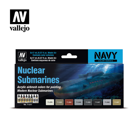71611 Estuche de 8 Pinturas Nuclear Submarines. Model Air Set
