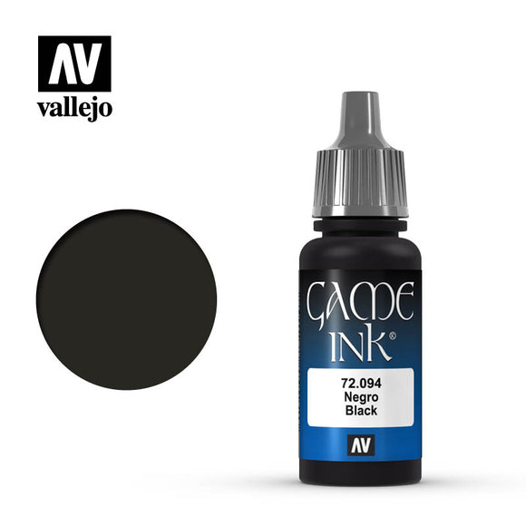 72094 Tinta Negra Game Ink (Black) 17ml. Game Ink