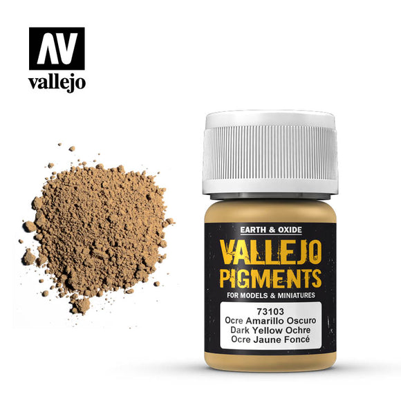 73103 Ocre Amarillo Oscuro (Dark Yellow Ochre) 35ml.  Vallejo Pigments
