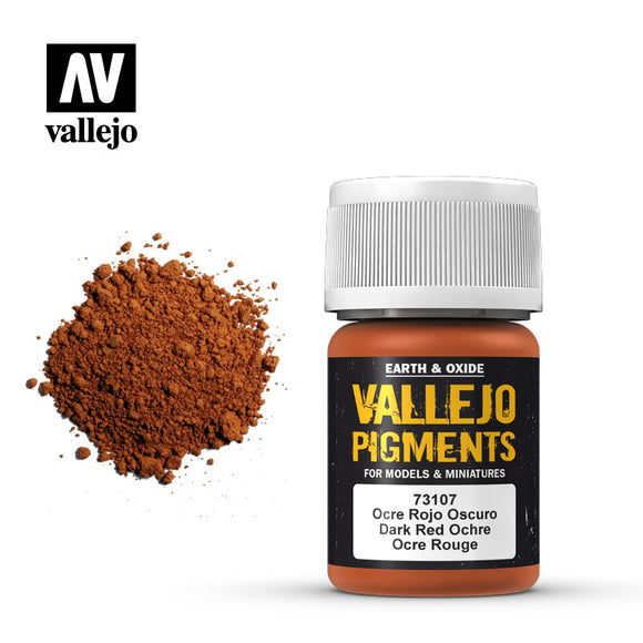 73107 Ocre Rojo Oscuro (Dark Red Ochre) 35ml. Vallejo Pigments