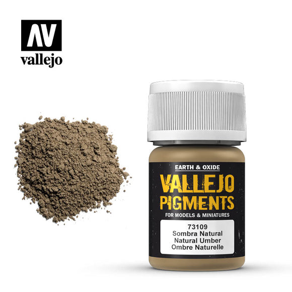 73109 Sombra Natural (Natural Umber) 35ml. Vallejo Pigments