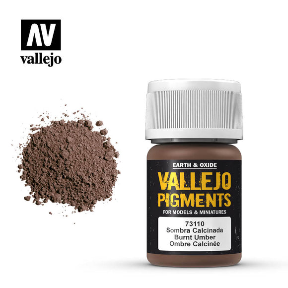 73110 Sombra Calcinada (Burnt Umber) 35ml. Vallejo Pigments