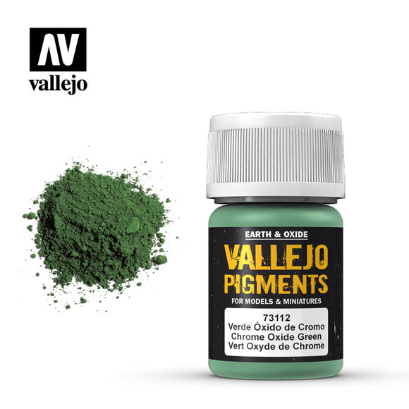 73112 Verde Óxido de Cromo (Chrome Oxide Green) 35ml. Vallejo Pigments