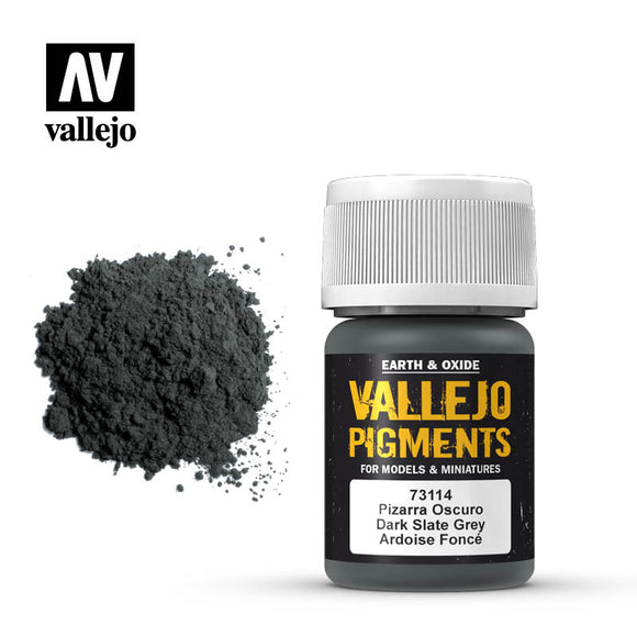 73114 Gris Pizarra Oscuro (Dark Slate Grey) 35ml.  Vallejo Pigments