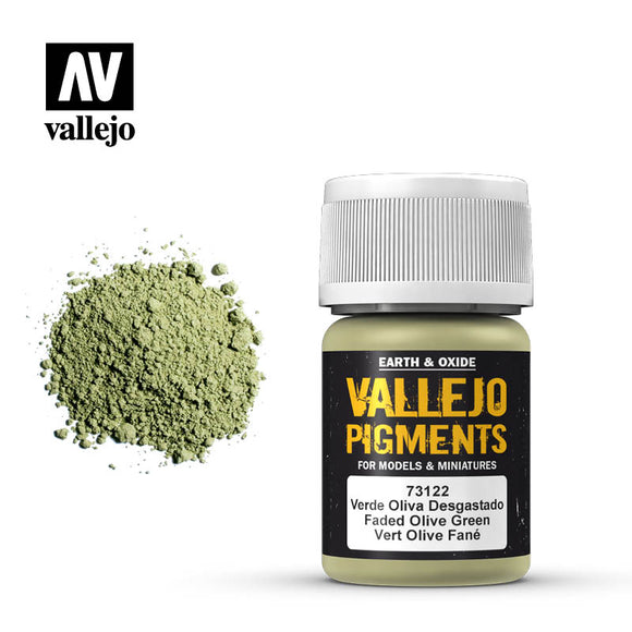 73122 Verde Oliva Desgastado (Faded Olive Green) 35ml. Vallejo Pigments