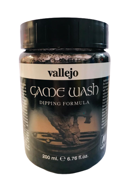 73301 Lavado Game Wash Negro/Black 200ml. Auxiliares Para Modelismo Vallejo
