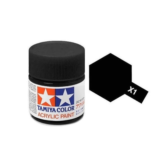 X-1 Negro (Black) 23ml. Tamiya Color X Grande Brillante