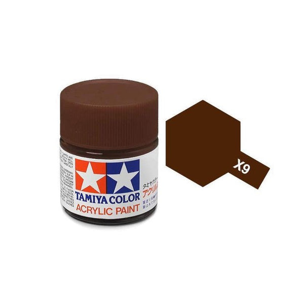 X-9 Brown (Café) 23ml. Tamiya Color X Grande Brillante