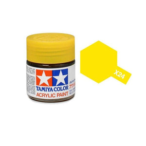 X-24 Amarillo Transparente (Clear Yellow) 23ml. Tamiya Color X Grande Brillante