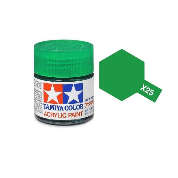 X-25 Verde Transparente (Clear Green) 23ml. Tamiya Color X Grande Brillante