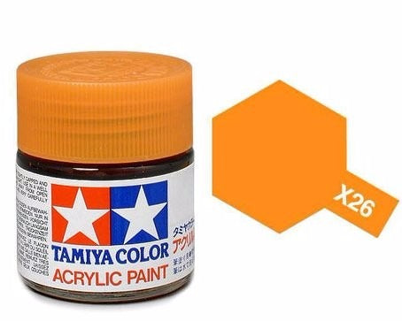 X-26 Naranja Transparente (Clear Orange) 23ml. Tamiya Color X Grande Brillante