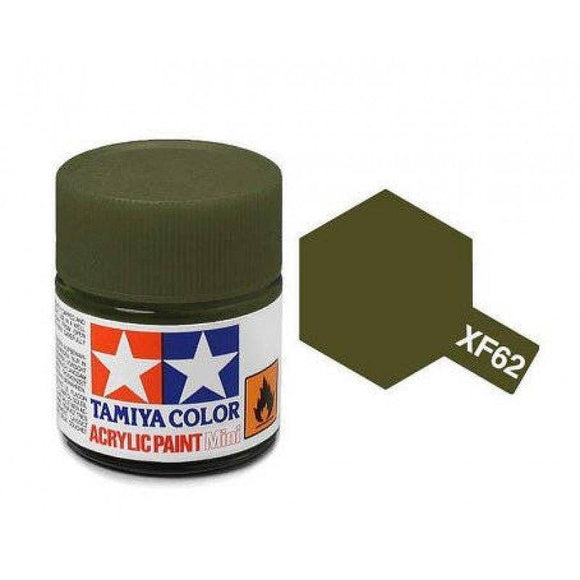 XF-62 Oliva (Olive Drab) 23ml. Tamiya Color XF Grande Mate