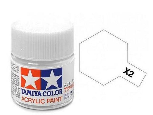 X-2 Blanco (White) 10ml. Tamiya Color X Mini Brillante