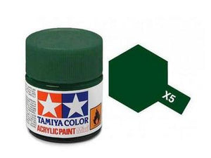 X-5 Verde (Green) 10ml. Tamiya Color X Mini Brillante