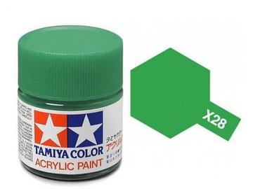 X-28 Verde Parque (Park Green) 10ml. Tamiya Color X Mini Brillante