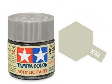 X-32 Titanio Plateado (Titanium Silver) 10ml. Tamiya Color X Mini Brillante
