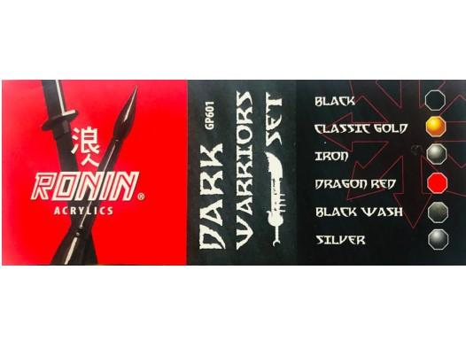 GP601 Estuche de 6 Pinturas Dark Warriors Color 15ml. Ronin Set