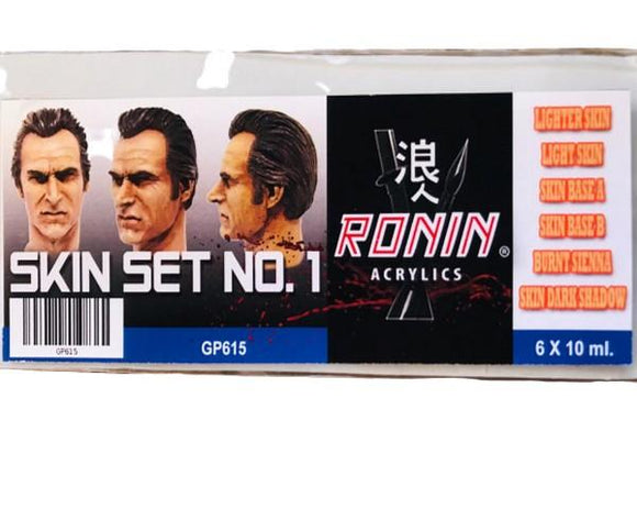 GP615 Estuche de 6 Pinturas Skin No.1 Color 15ml. Ronin Set