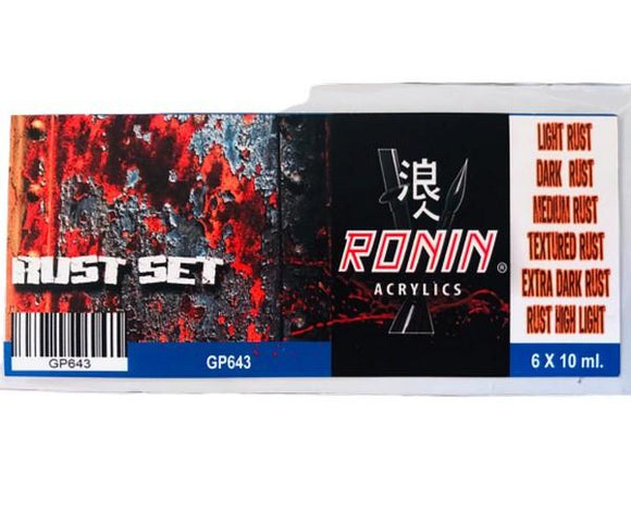 GP643 Estuche de 6 Pinturas Rust 15ml. Ronin Set